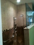 Shower with hand controls