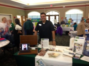 Scott talking remodeling for seniors and the disabled at Coquina Crossing.
